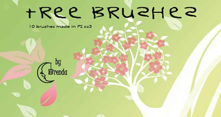 tree free photoshop nature brush sets