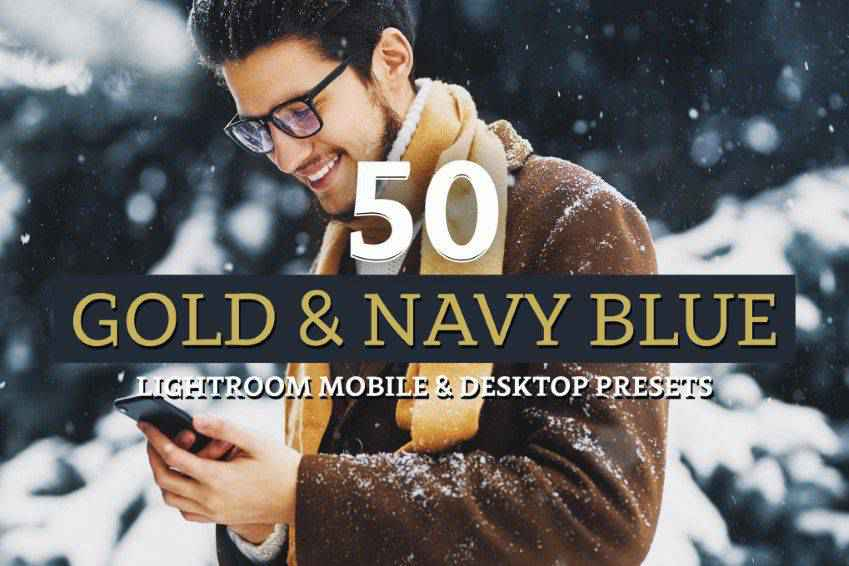 Gold Navy Lightroom Presets