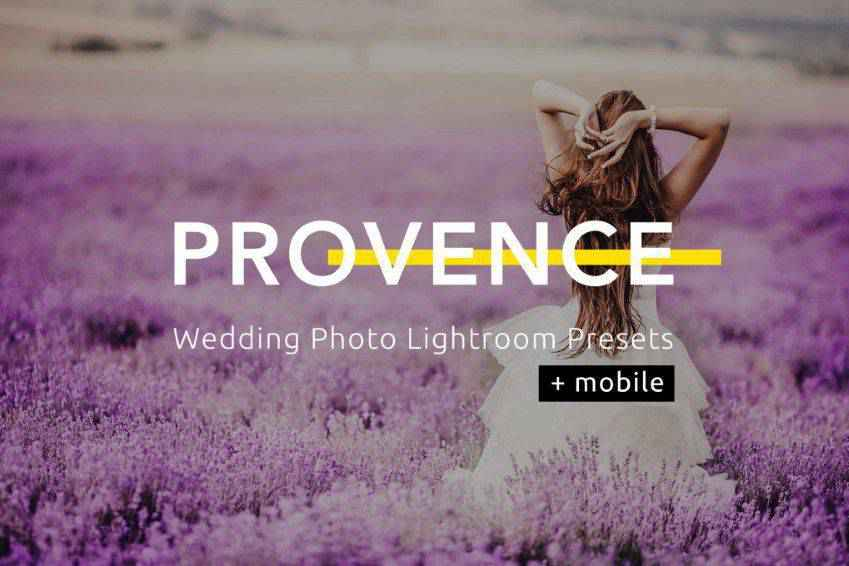 Provence Wedding Photo Lightroom Presets
