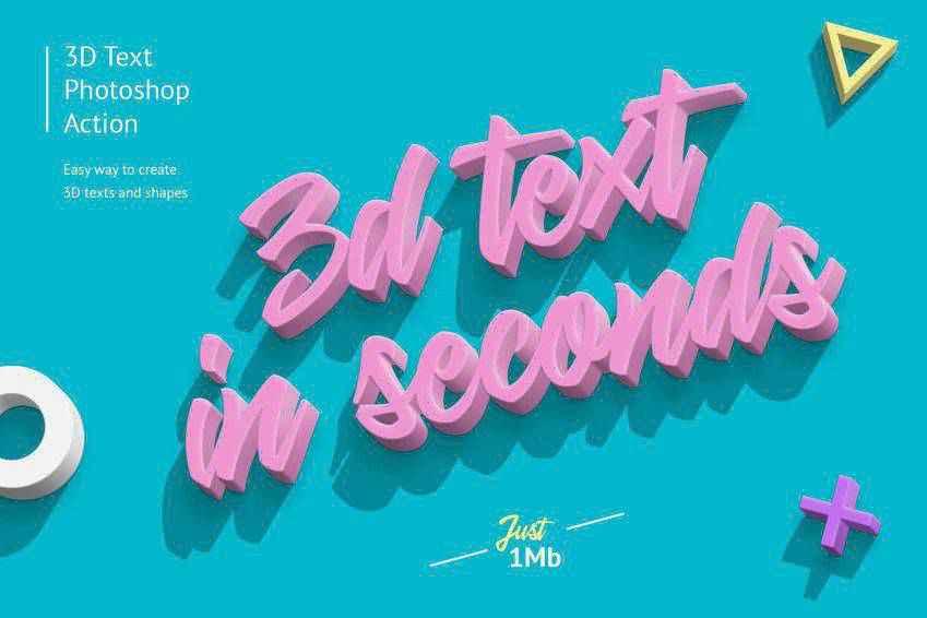 3D Text Effect Photoshop Action