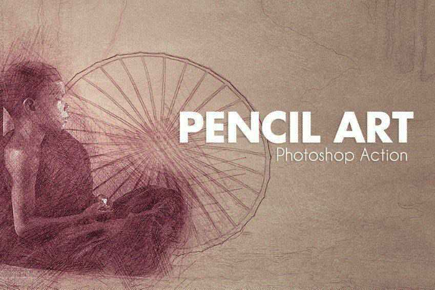 Pencil Art Photoshop Actions