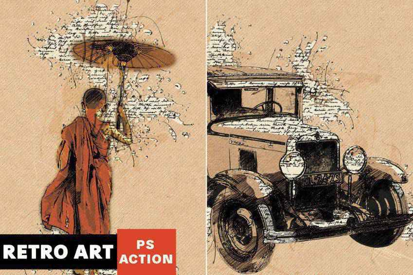 Retro Art Photoshop Action