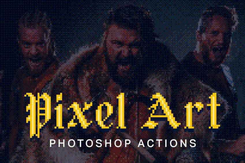 Pixel Art Photoshop Actions