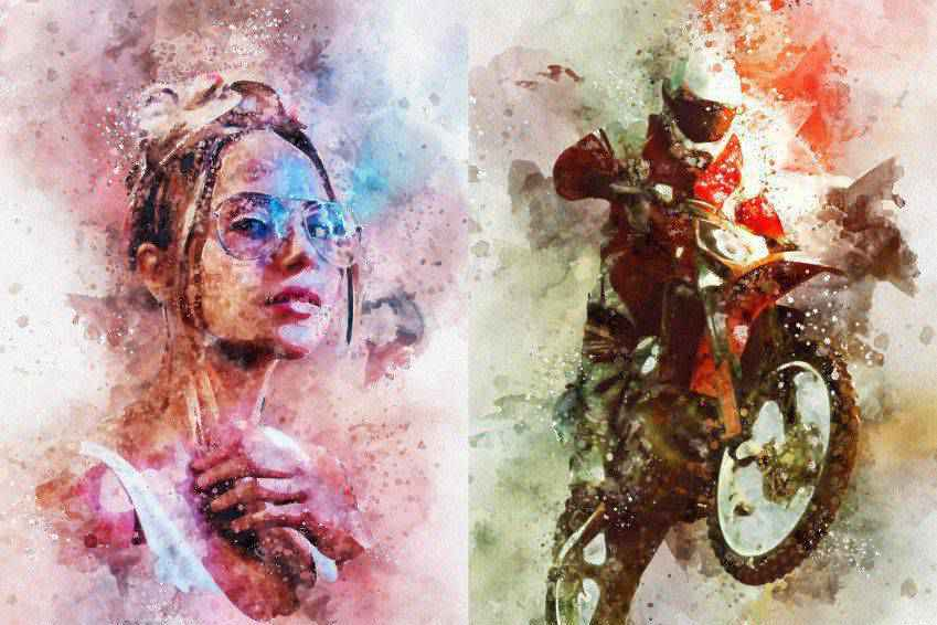 Watercolor Splash Art Photoshop Action