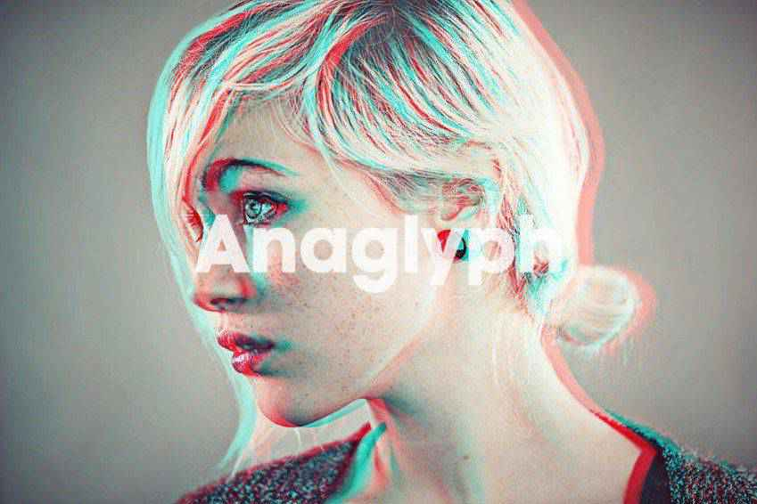 Anaglyph 3D Photoshop Actions