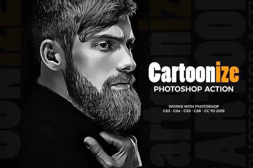 Cartoonize Photoshop Actions