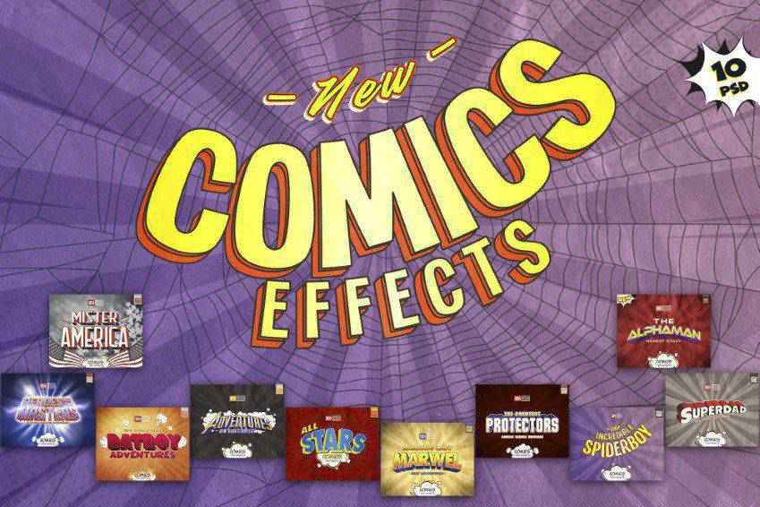 Comics PSD Text Effects