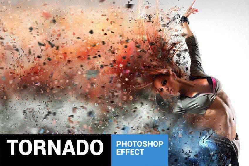 Tornadum Dispersion Photoshop Action
