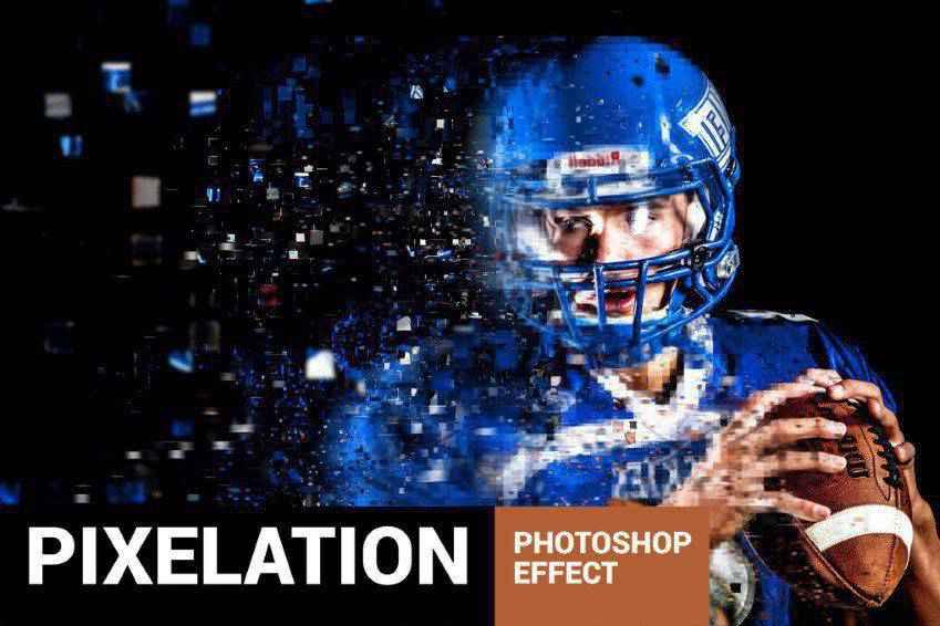 Pixelum Digital Pixelation Photoshop Action