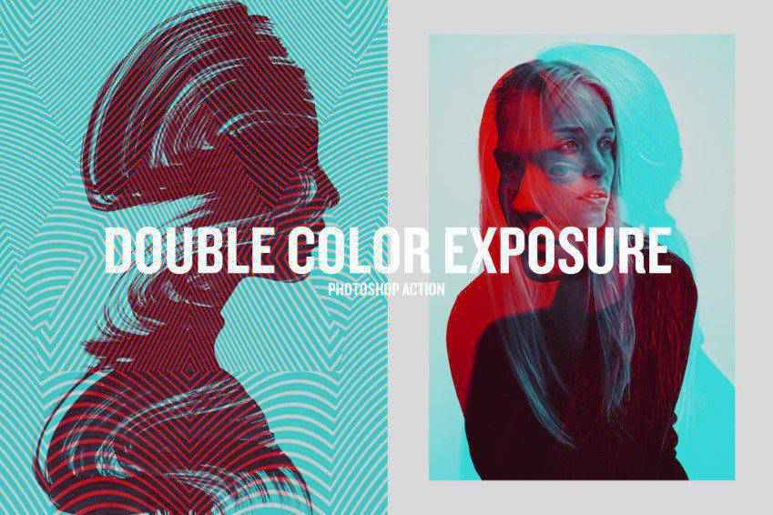 Beautiful Double Color Exposure Photoshop Action