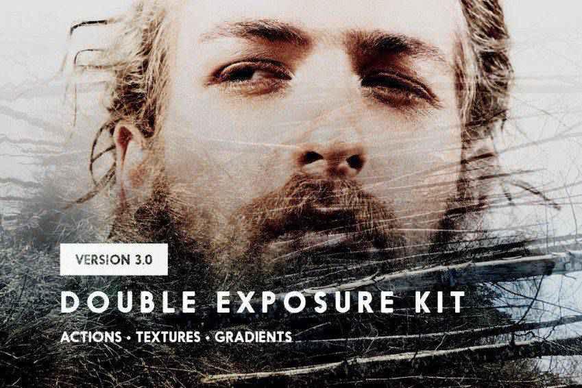 Double Exposure Kit Photo Action Gradient
