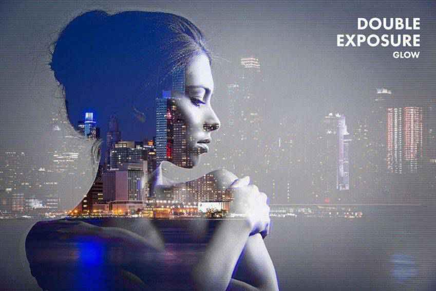 Double Exposure Glow Photoshop Actions