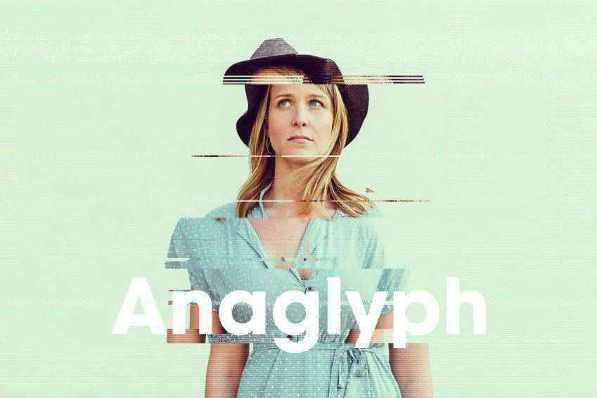 Anaglyph Glitch Photo FX for Photoshop