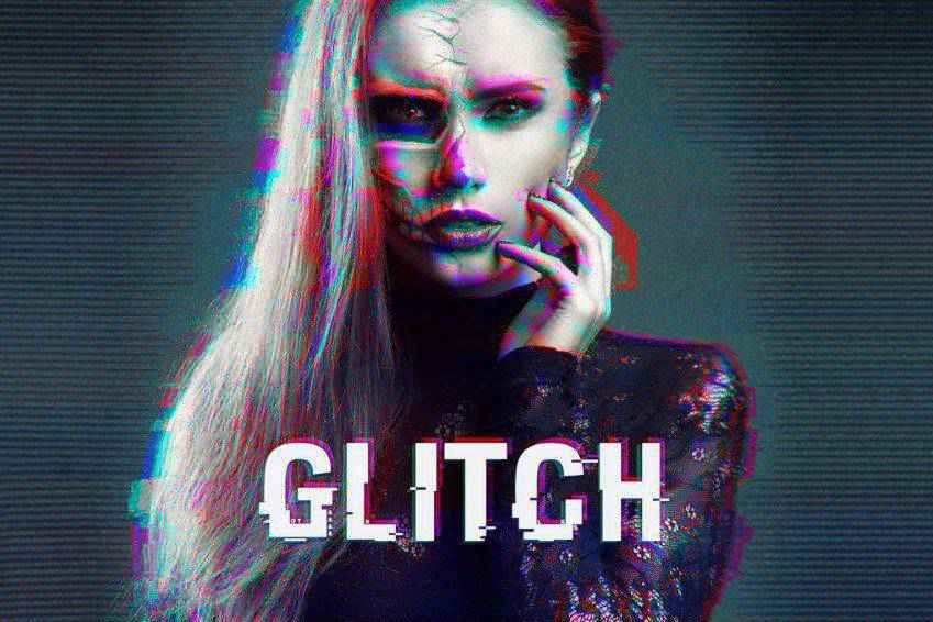 Distorted Glitch Photoshop Actions