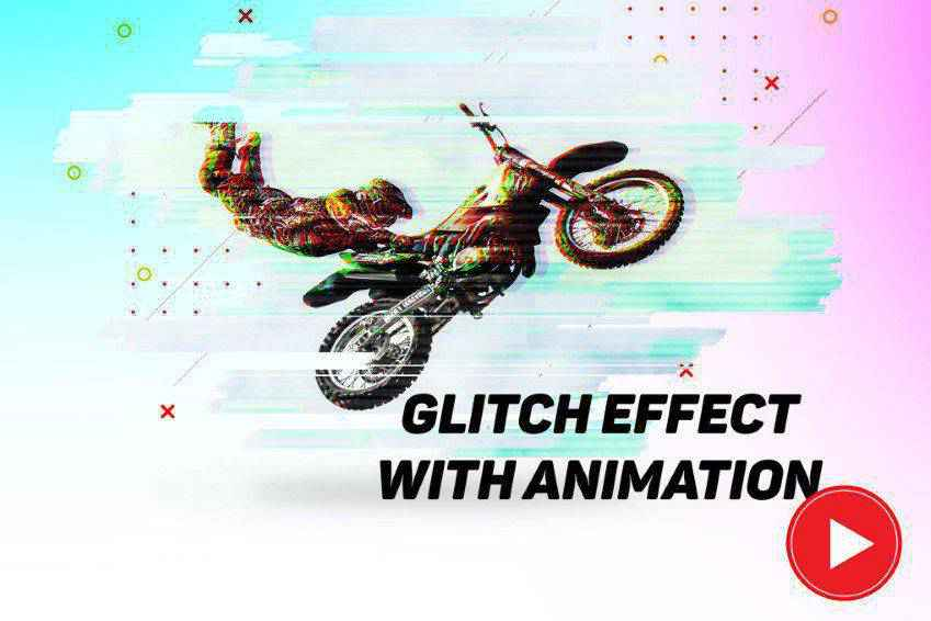 Glitch Effect with Animation Photoshop Actions