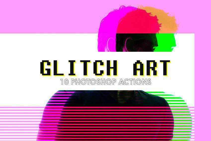 Glitch Art Photoshop Actions