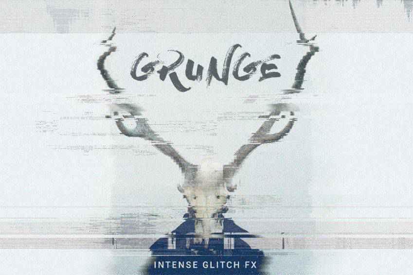 Grunge Glitch Photo FX for Photoshop