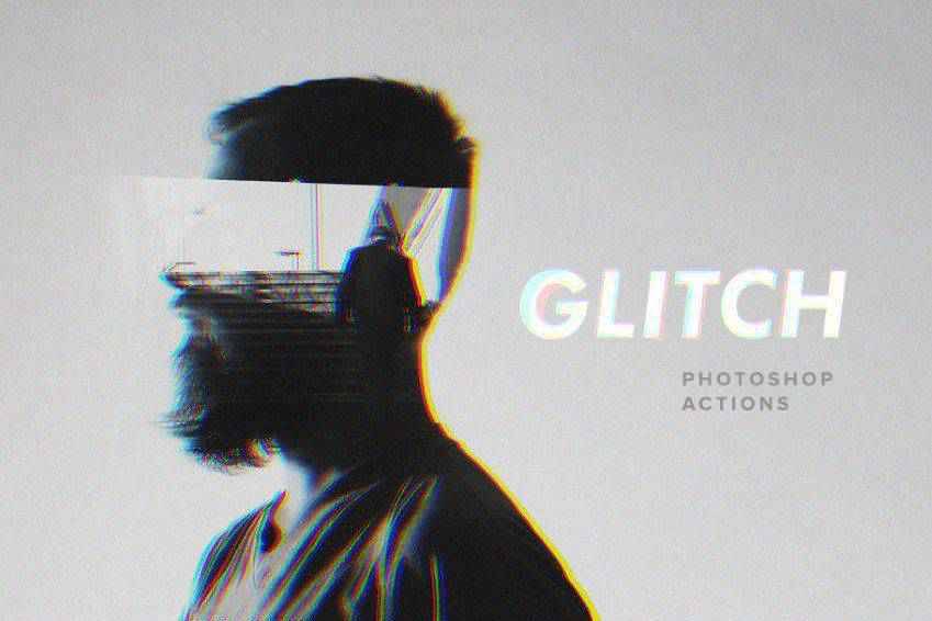 Futuristic Glitch Photoshop Actions