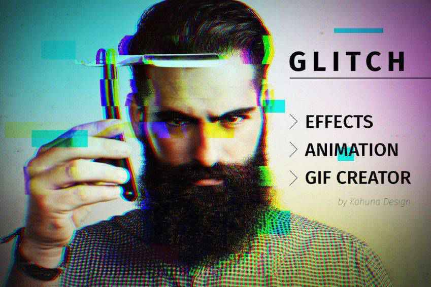 Glitch Effects with Animated GIF Creator for Photoshop