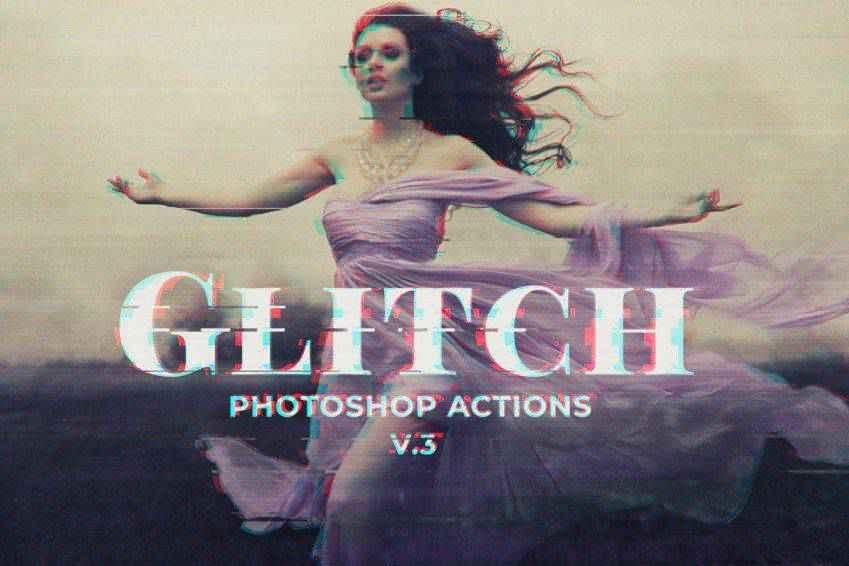 Glitch Photoshop PSD Template