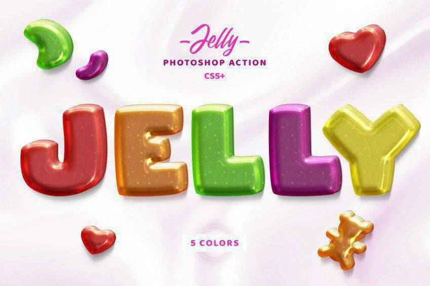 Jelly Text Effect Photosop Action