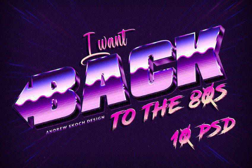 New 80s Text Effects for Photoshop