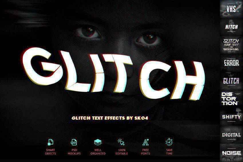 Glitch Effects for Photshop