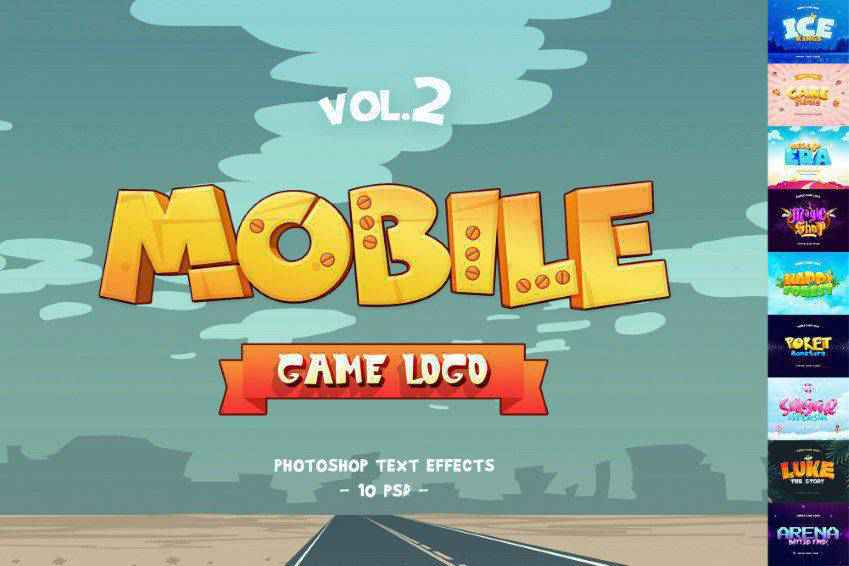 Mobile Game Photoshop Text Effects