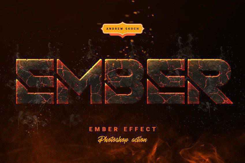 Ember Effect Photoshop Action