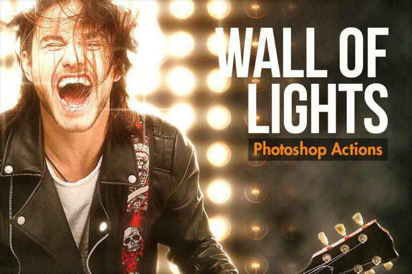 Wall of Lights Photoshop Actions