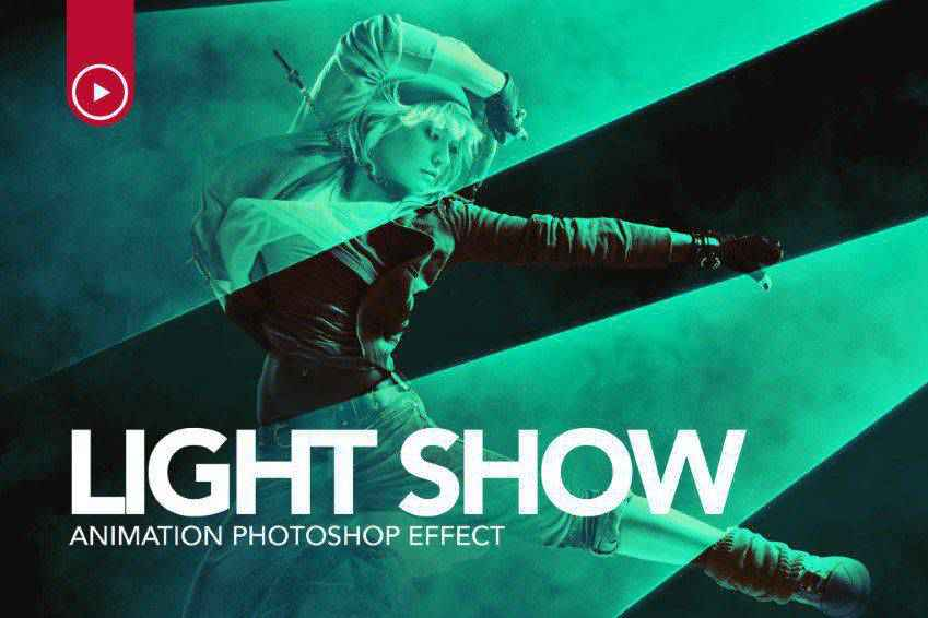 Light Show Animation Photoshop Action