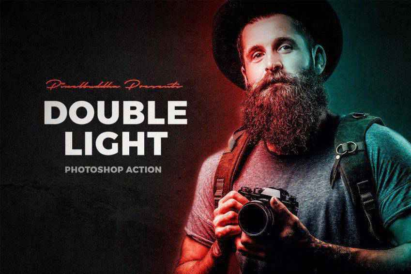 Double Light Photoshop Action