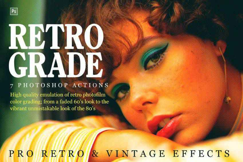 Retro & Vintage Photoshop Actions