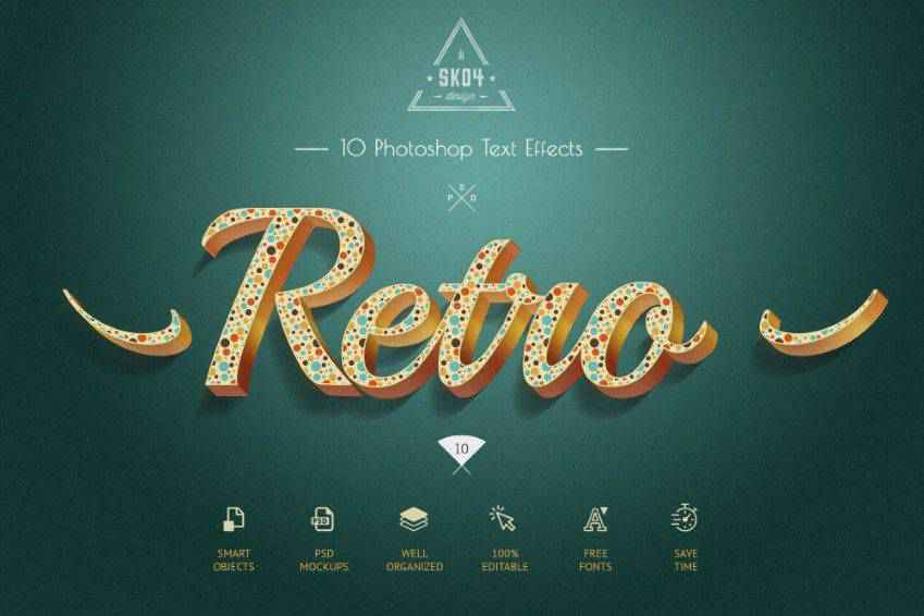Retro Colorful Text Effects for Photoshop