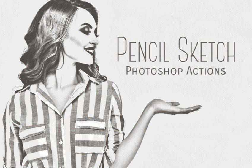 Pencil Sketch Photoshop Actions