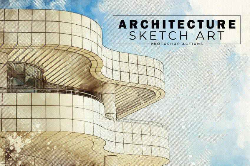 Architecture Sketch Art Photoshop Actions