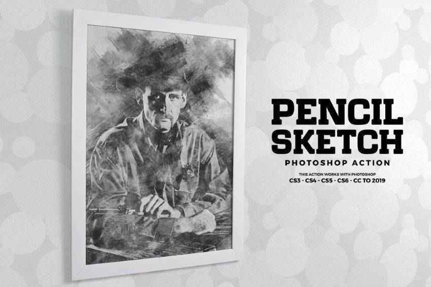 High-Quality Pencil Sketch Photoshop Action