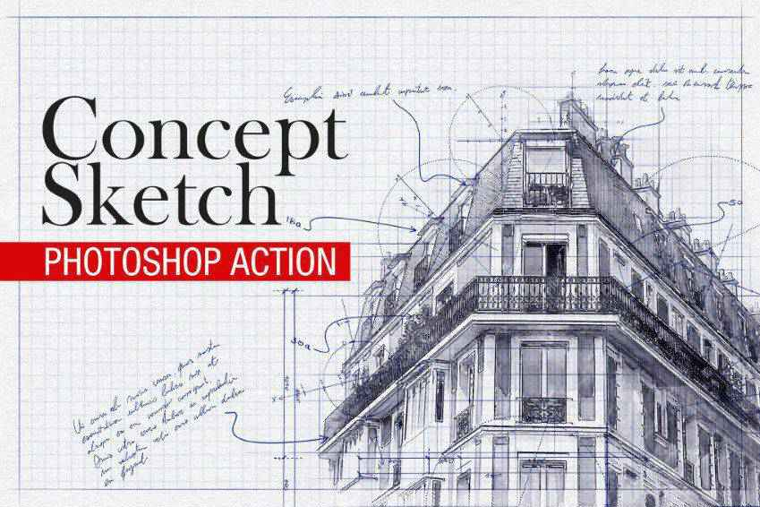 Concept Sketch Photoshop Action
