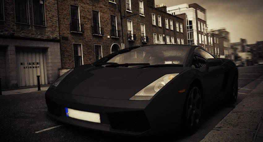 Yellow Lamborghini  Photo Effect Tutorials in Photoshop