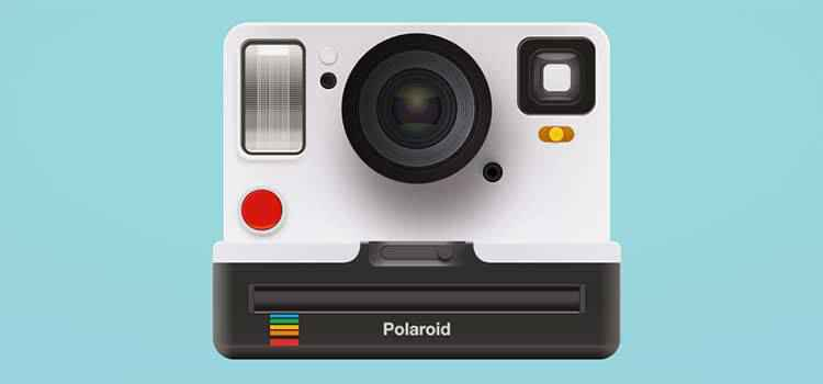 Example from How I recreated a Polaroid camera with CSS gradients only