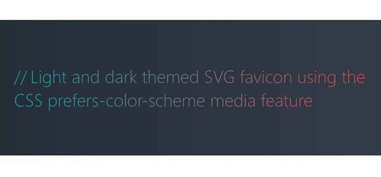 Example from Light and dark themed SVG favicon using the CSS prefers-color-scheme media feature