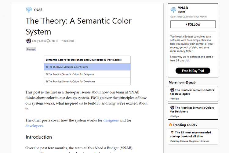 Example from The Theory: A Semantic Color System