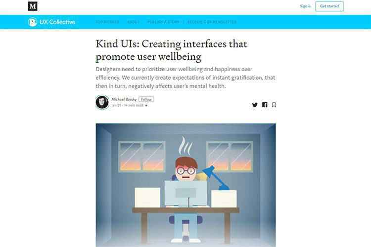 Example from Kind UIs: Creating interfaces that promote user wellbeing