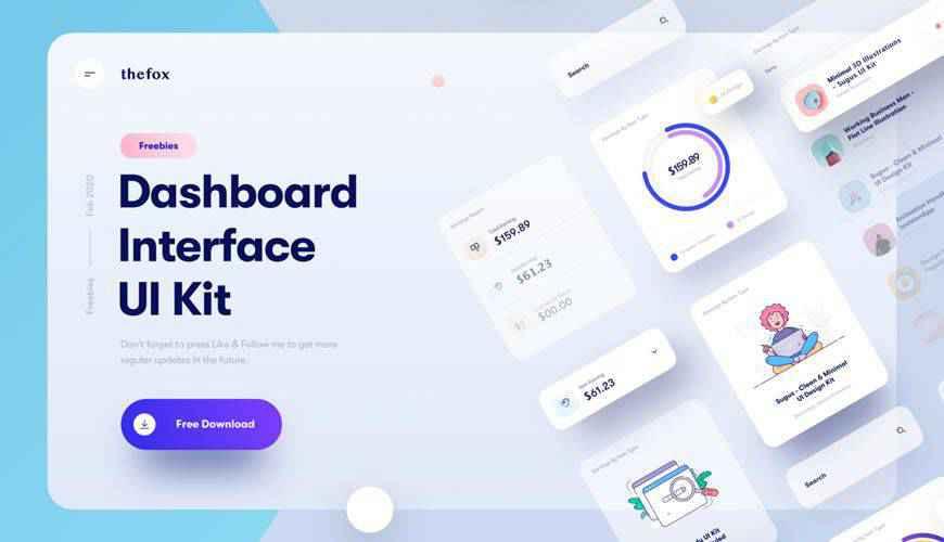 Interface Elements dashboard admin template ui free Sketch App