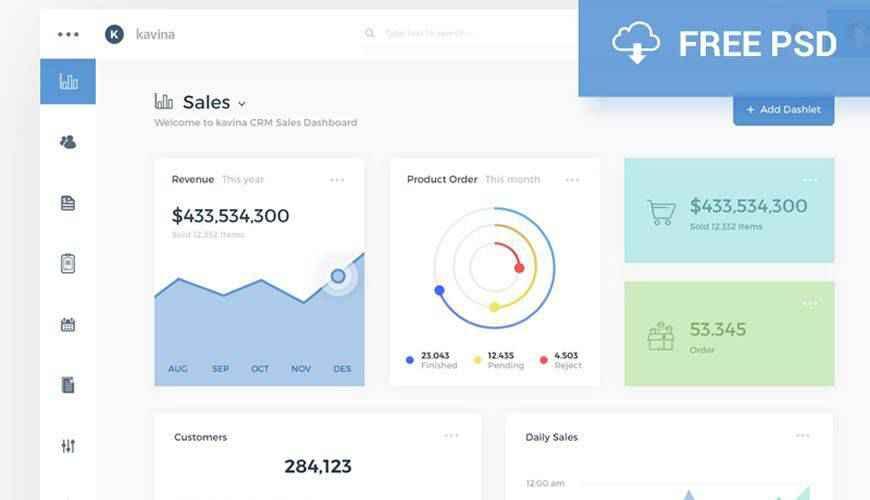Sketch App Data Analytics dashboard admin template ui free