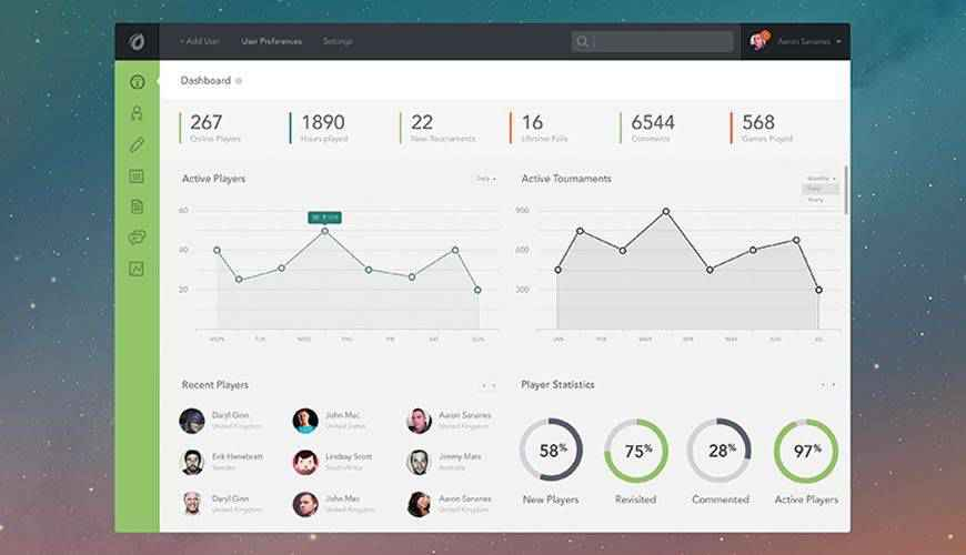 Sketch App dashboard admin template ui free
