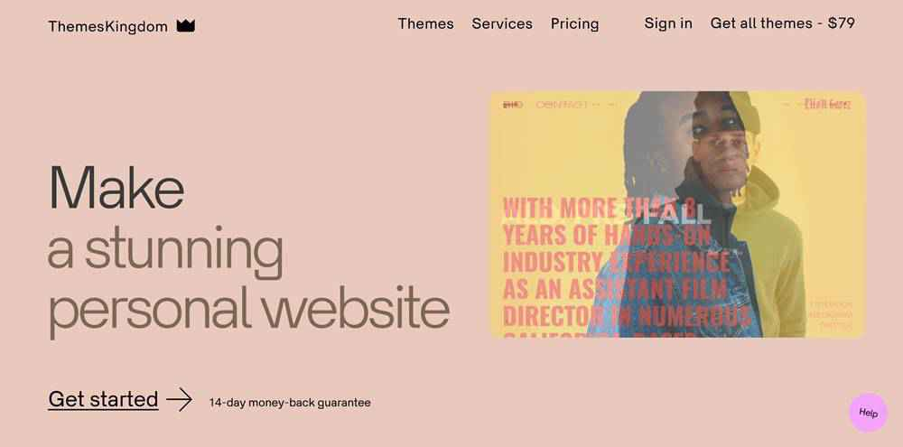 ThemesKingdom clean web design inspiration example website