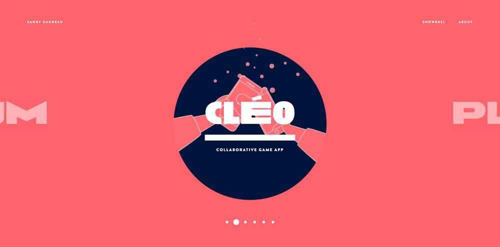 Sandy Dauneau clean web design inspiration example website
