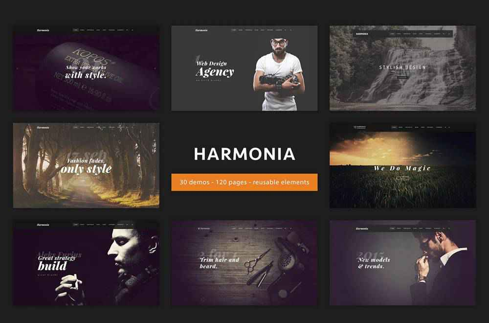 Harmonia clean web design inspiration example website