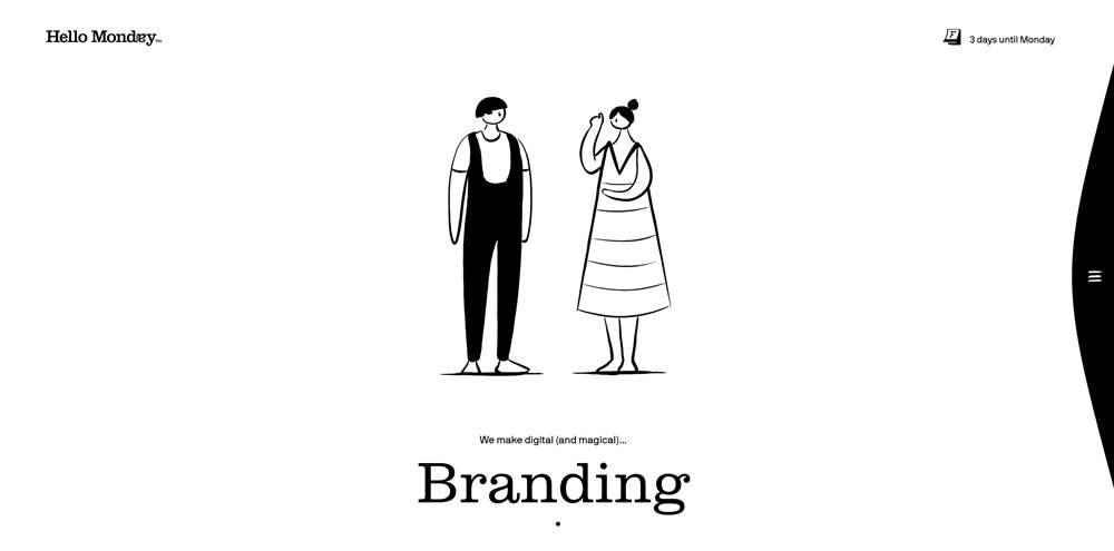 Hello Monday clean web design inspiration example website